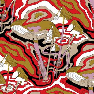 Аббстрактные сюрреалистические грибы