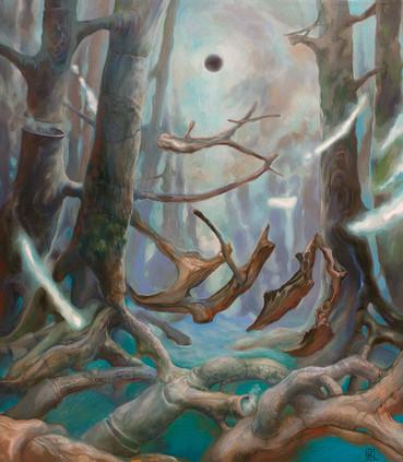 Сюрреалистический пейзаж «Гравитация»