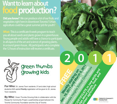 2011 Recipe for Community in St. James Town – Urban Roots Youth Program