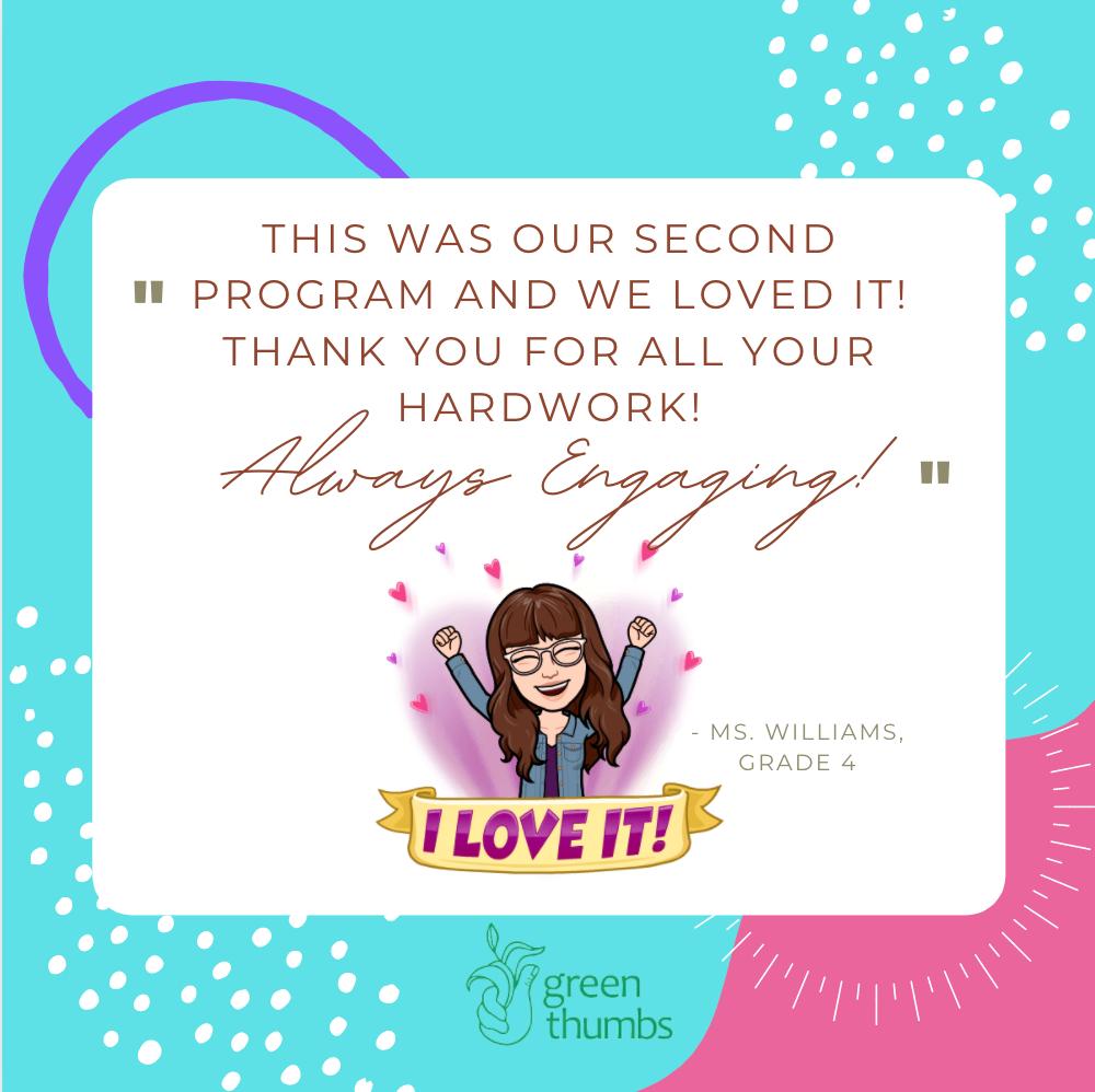 Card of appreciation with teacher avatar