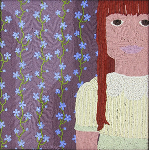 Laura and the Forget-Me-Not Wallpaper