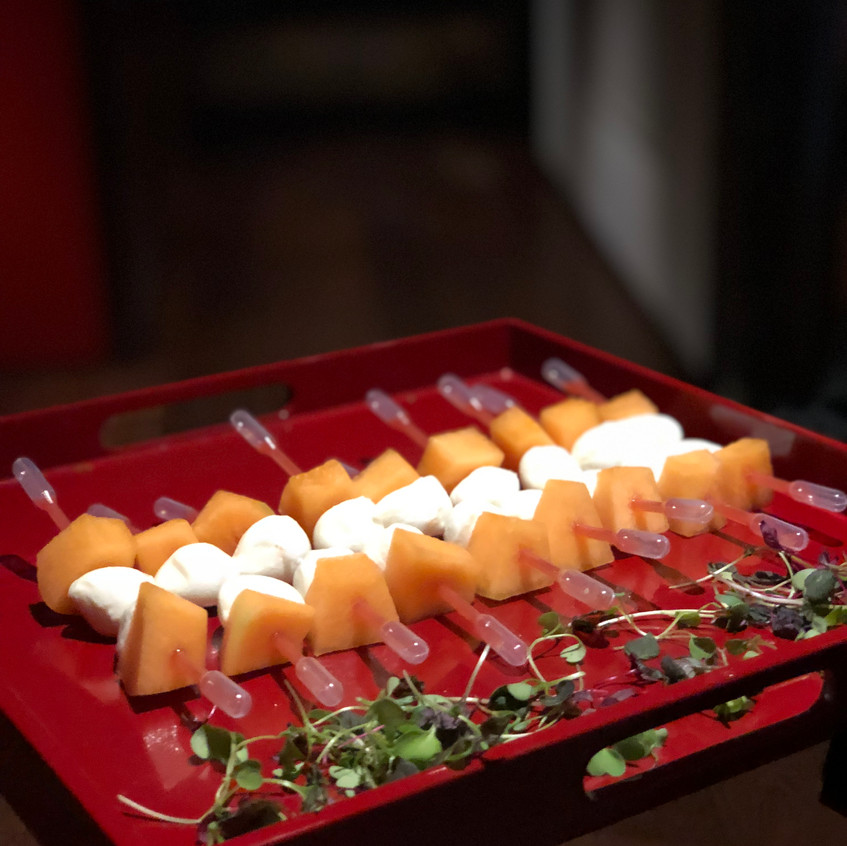 Canapes served at The Shard