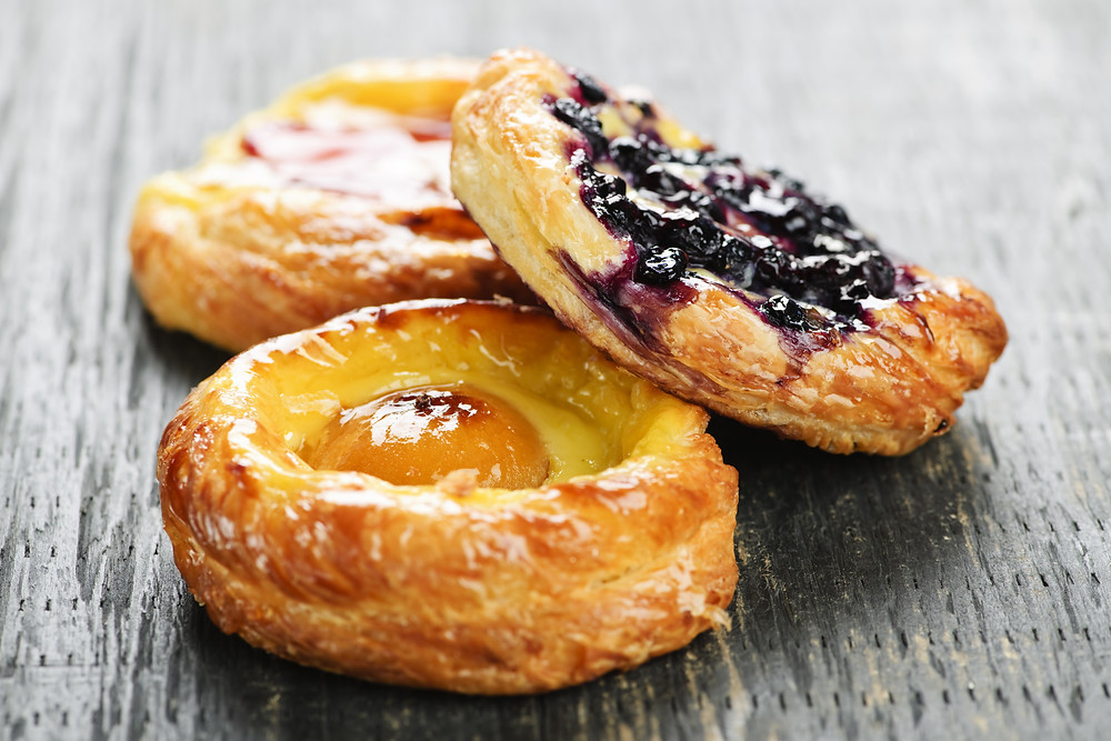 Cooks & Partners breakfast pastries in delivery service menus