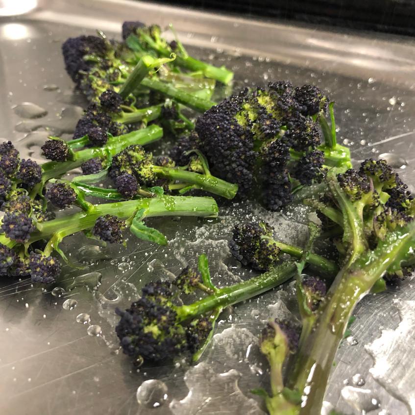 Purple sprouting broccoli and Malden