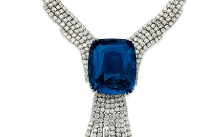Sapphire & Diamond Necklace. Christie's Images Limited