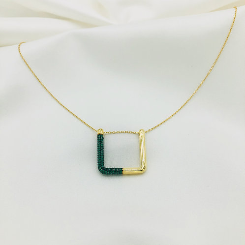 """Zoe"" Halskette smaragdgrün"