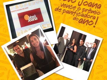 Ontem, a Padaria Vovó Joana recebeu o prêmio de Panificadora do Ano no FestPan!