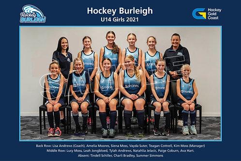 2021 U14 Girls Team Photo