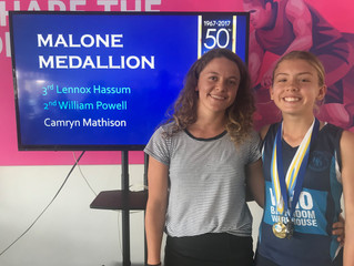 Camryn wins the Malone medal for the second year