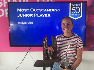 Jordan wins Most Outstanding Junior award for 2018