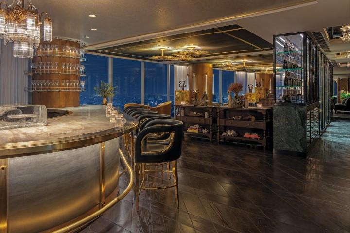 The Champagne Bar Area