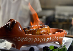 Flaming Chourica Appetizer