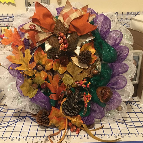 """12"""" FALL COLOR CONVERGENCE WREATH"""