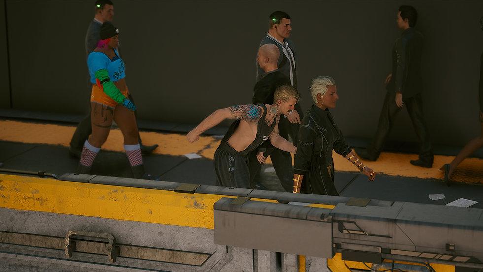 Bermuda Triangle Protective-mesh Muscle Tank