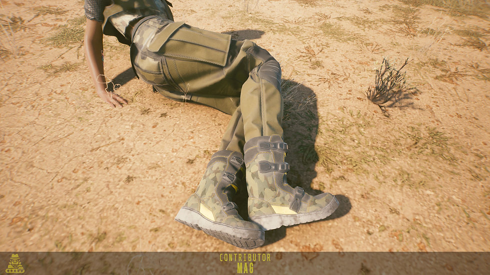 Weathered Combat Boots
