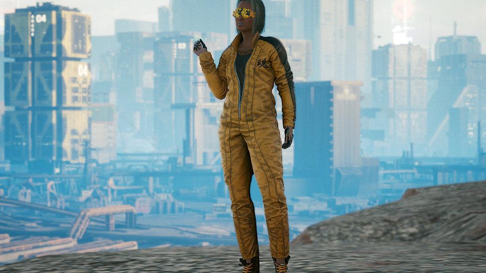 Yellow Cobra Carbon Reinforced Racing Suit