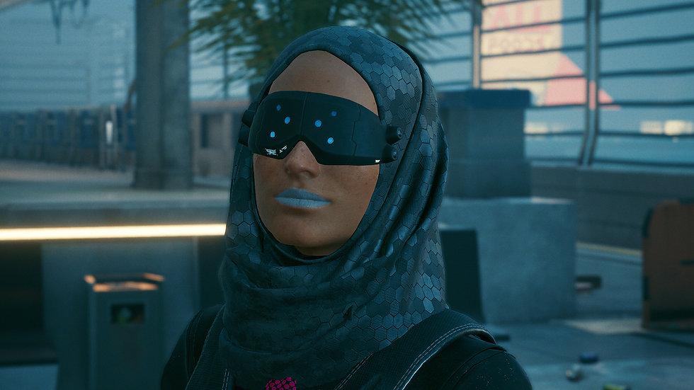 Gray Area Anti-Tear Hijab