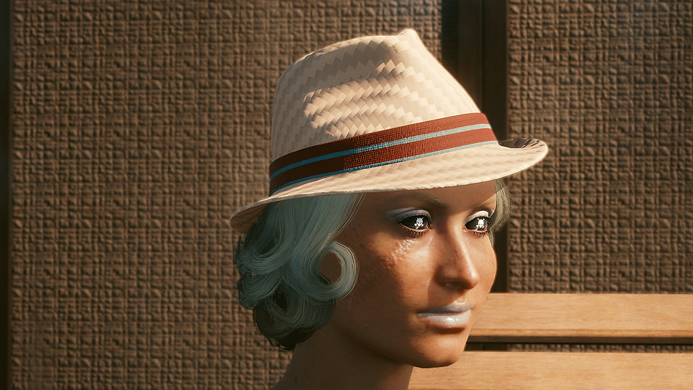 Solid Straw-Woven Trilby