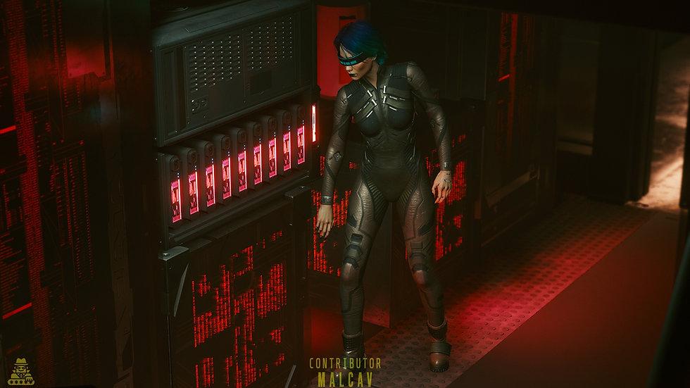 Worn Netrunning Suit
