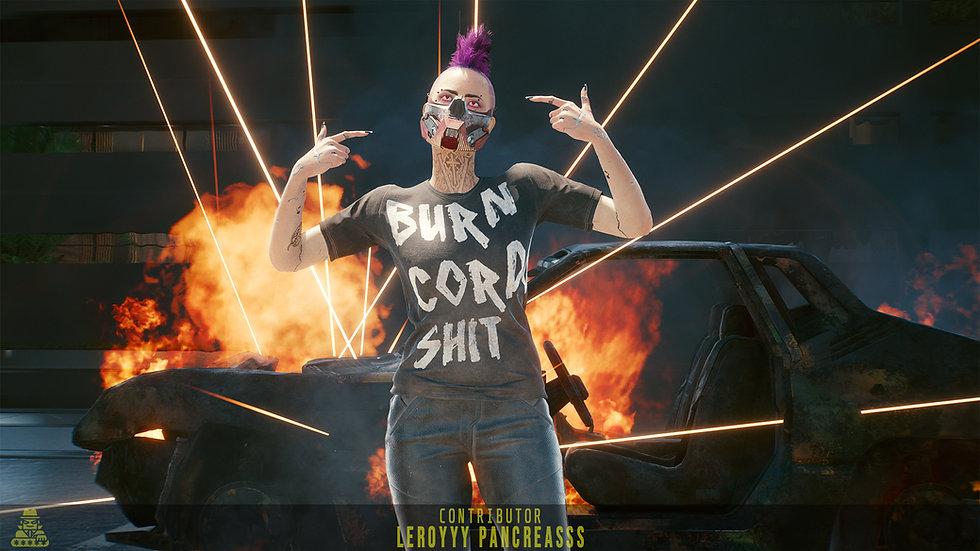 Utiltarian Burn Corpo Shit T-Shirt