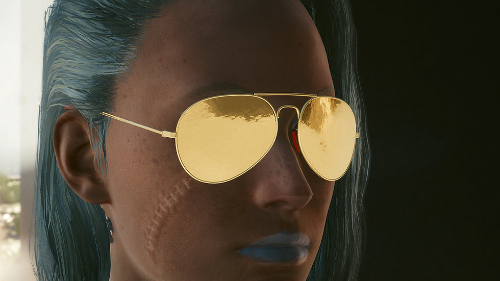Gold Punk Aviators with Coated Glass