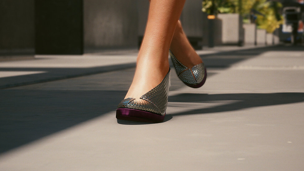 Crystal Lily Evening Pumps with Extra-Durable Soles