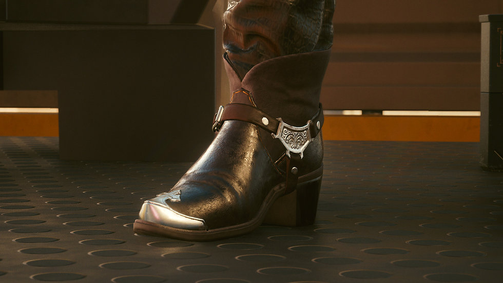 Gold-Tipped Manganese Steel Solo Boots