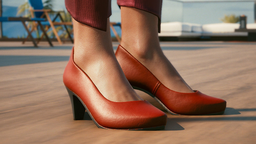 Comfy Formal Pumps with Metal Inserts