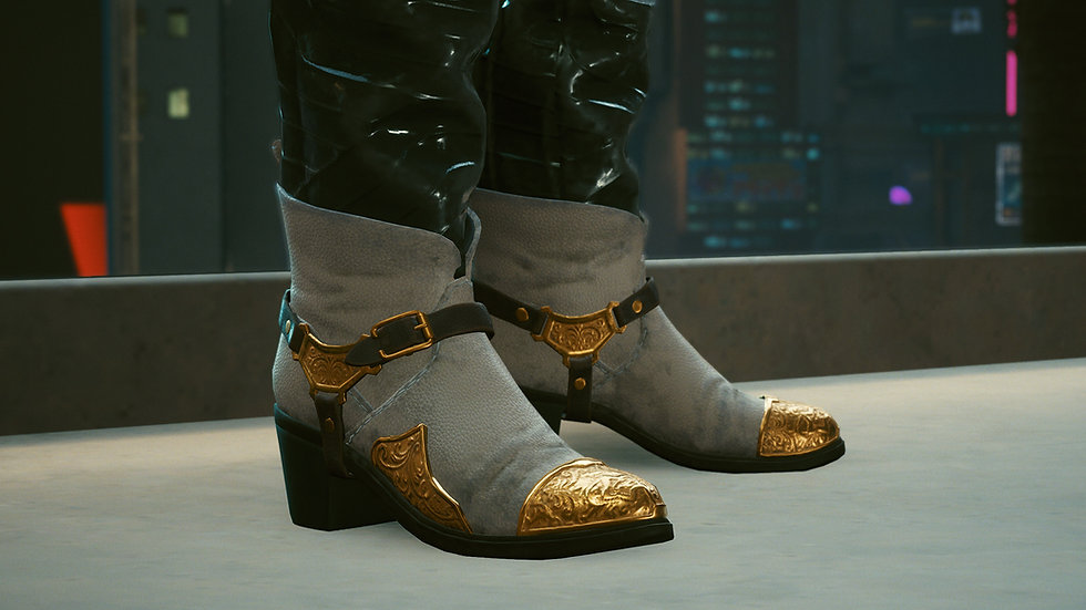 V's Gold-Plated Boots