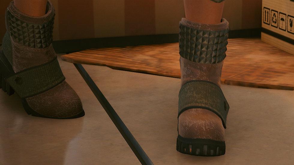 Titanium-Layer Platform Boots