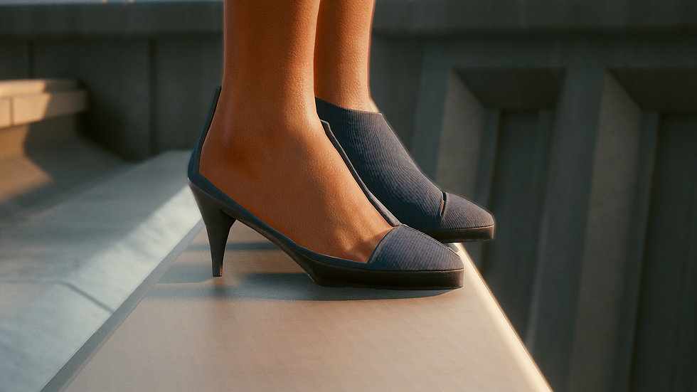 Classic Evening Pumps with Polycarbonate Support