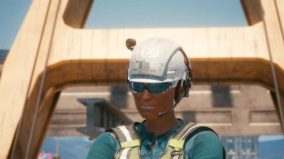 Arasaka Engineer Hardhat with Headset