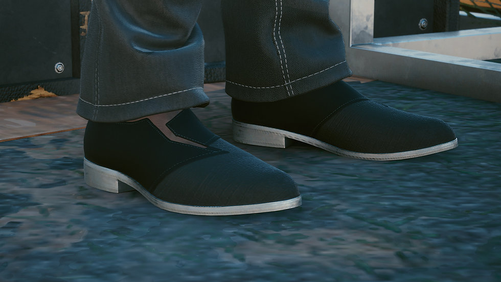 Reinforced-Leather Office Shoes
