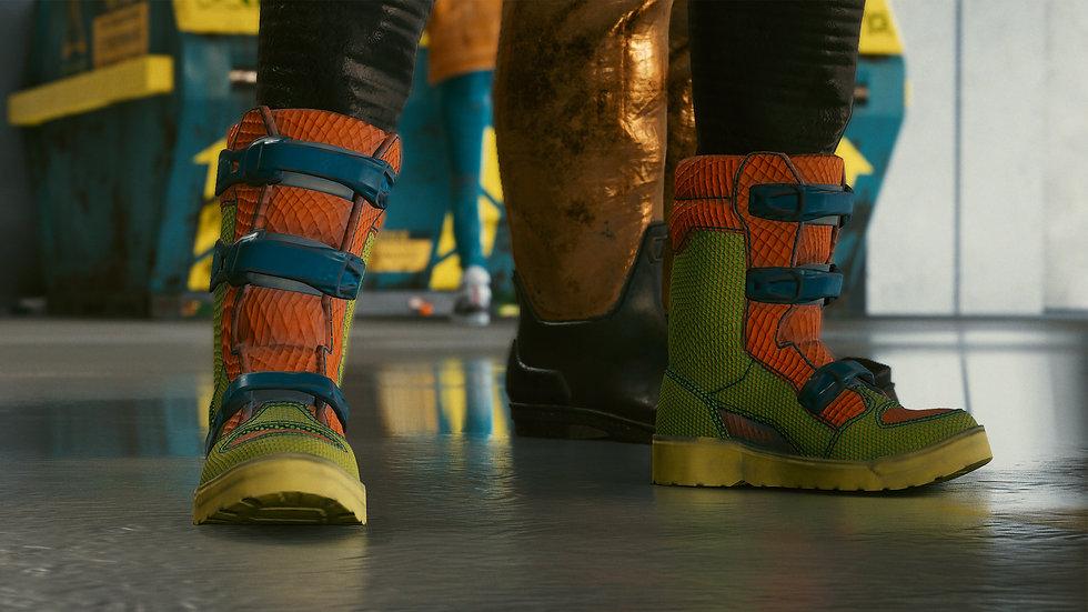 Reinforced Biker Boots