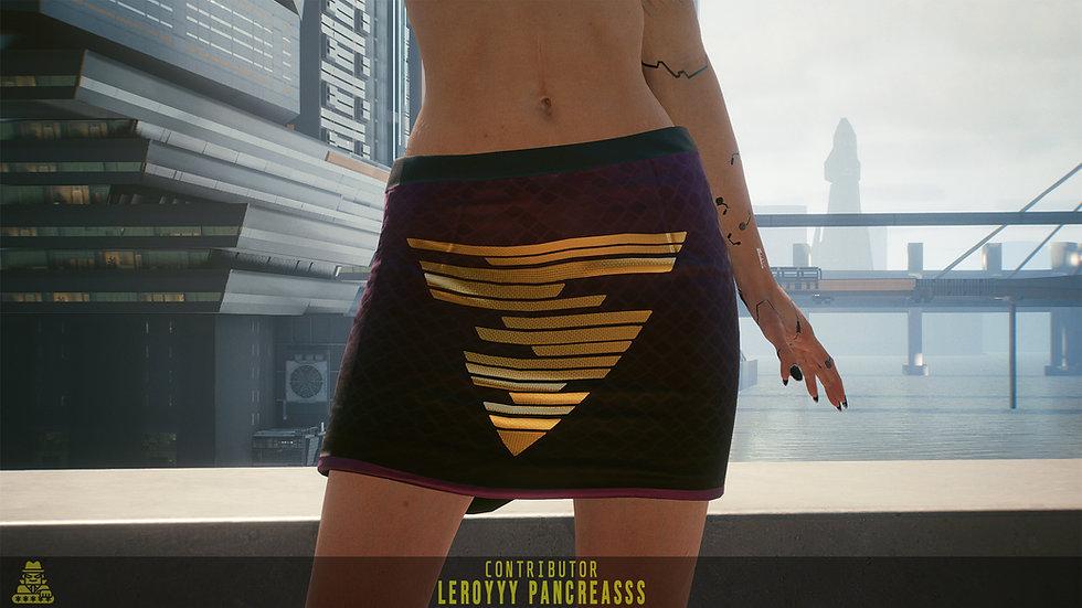 Golden Mean Aramid-Stitch Formal Skirt