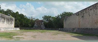 BOISKO DO GRY W PELOTA W CHICHEN ITZA MEKSYK PÓŁWYSEP JUKATAN