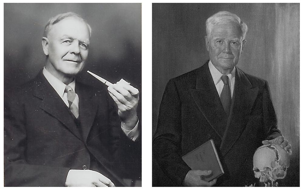 Fondateurs de l'ostéopathie dans le champ crânien (H. I. Magoun à gauche et W. G. Sutherland à droite)