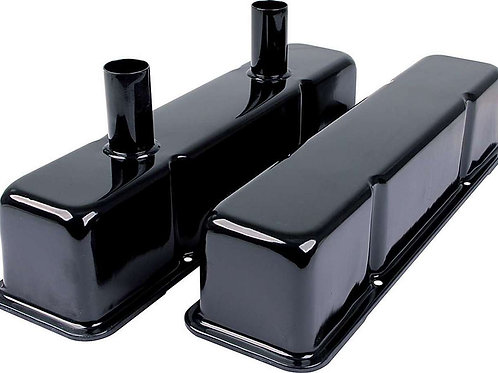 ALLSTAR Valve Covers SBC Steel Black with Tubes