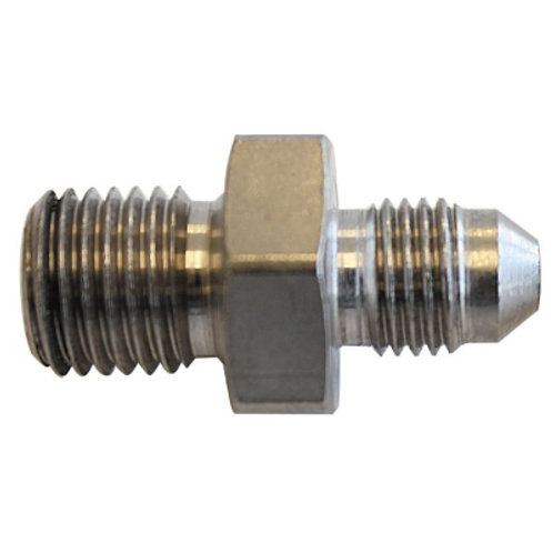 AEROFLOW Stainless Steel Adapter -3AN to M10 x 1.0mm