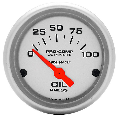 AUTOMETER Ultra-Lite Series Oil Pressure Gauge