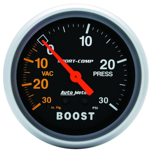 AUTOMETER Sport-Comp Series Boost/Vacuum Gauge