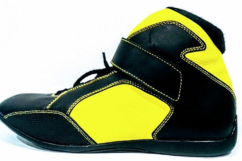 EDGE Safety Boot Black with Hi-Vis Size 9