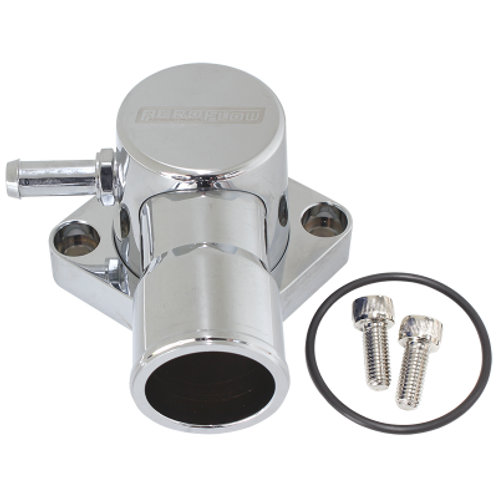 AEROFLOW Billet Aluminium Swivel Thermostat Housing - Chrome