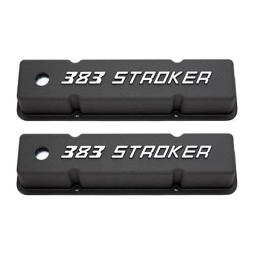 RPC SBC Cast Aluminium Valve Covers With 383 Stroker Logo
