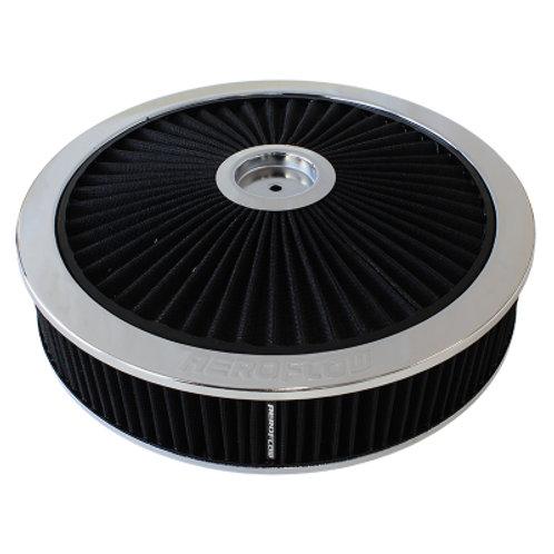 """AEROFLOW Chrome Air Filter Assembly 14"""" x 3"""""""