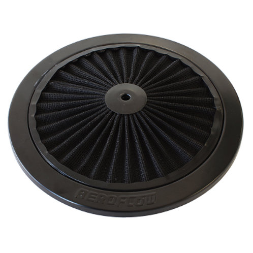 AEROFLOW Black Full Flow Air Filter Top Plate