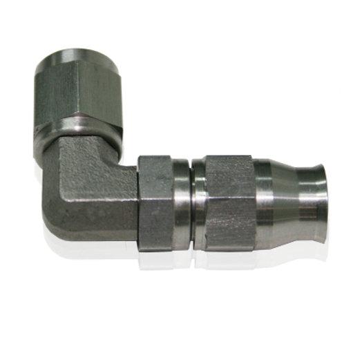 AEROFLOW 200 Series 90 Deg Stainless Steel Hose End -4AN