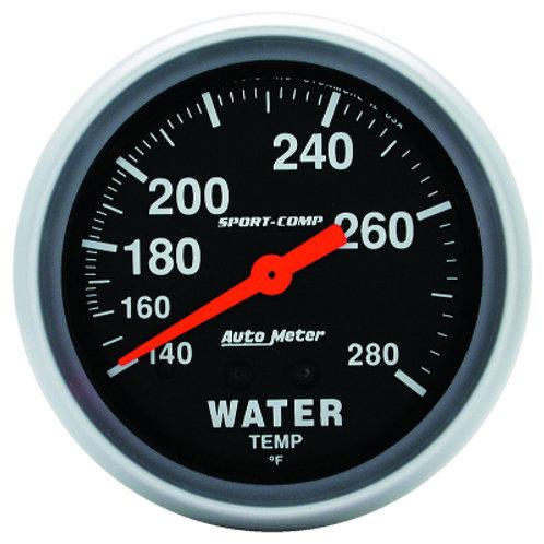 AUTOMETER Sport-Comp Series Water Temperature Gauge