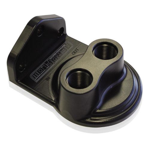 AEROFLOW Billet Remote Oil Filter Head