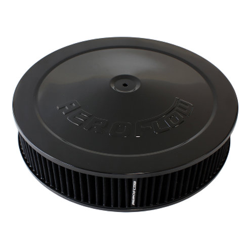 "AEROFLOW Black Air Filter Assembly 14"" x 3"""